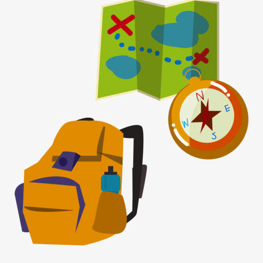 backpacking-illustration-map-compass
